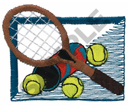 TENNIS MONTAGE embroidery design