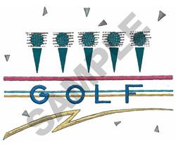 GOLF LOGO (LARGE) embroidery design