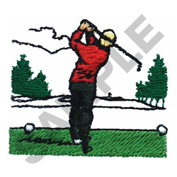 TEE OFF SHOT embroidery design