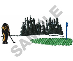 CHIPPING SCENE embroidery design