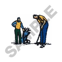 GOLFING PAIR embroidery design