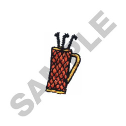 MINI GOLF BAG embroidery design