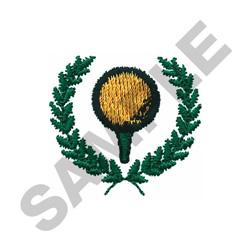 GOLF LAUREL WREATH embroidery design
