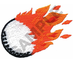 FLAMING GOLF BALL embroidery design