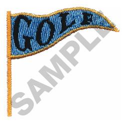 GOLF FLAG embroidery design