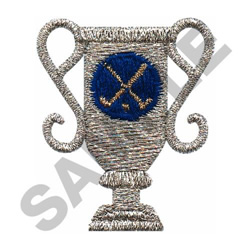 GOLF TROPHY embroidery design