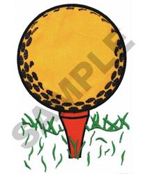 GOLF BALL & TEE APPLIQUE embroidery design