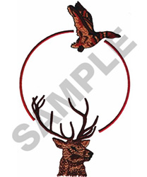 HUNTING EMBLEM embroidery design