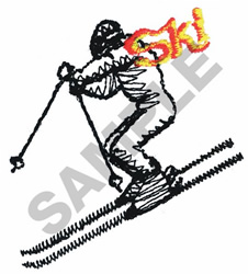 SKI embroidery design