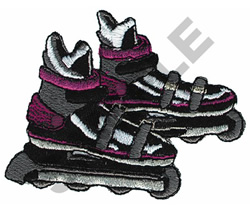 ROLLERBLADES embroidery design