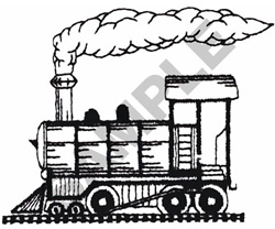 LOCOMOTIVE OUTLINE embroidery design