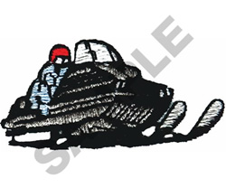 SNOWMOBILE embroidery design
