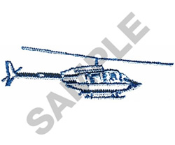 BELL HELICOPTOR embroidery design
