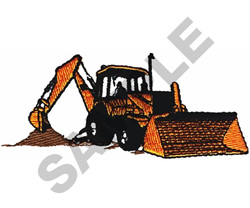 BACKHOE embroidery design