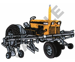 ROW CROP TRACTOR embroidery design