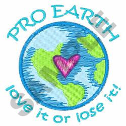 PRO EARTH embroidery design