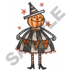 PUMPKIN HEAD embroidery design