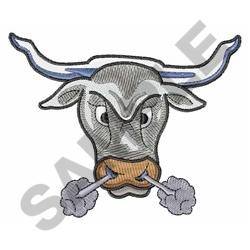 SNORTING BULL embroidery design