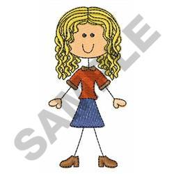 GIRL STICK FIGURE embroidery design