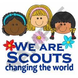 SCOUTS CHANGING THE WORLD embroidery design