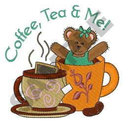 COFFEE TEA AND ME embroidery design