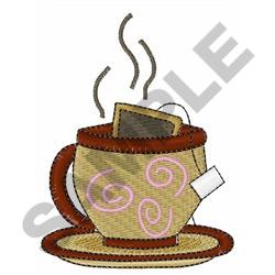 CUP OF HOT TEA embroidery design