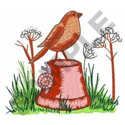 ROBIN AND SNAIL embroidery design
