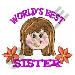 WORLD BEST SISTER embroidery design