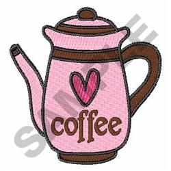 COFFEE CARAFE embroidery design