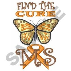 FIND THE CURE FOR MS embroidery design