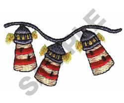 LIGHTHOUSE CHRISTMAS LIGHTS embroidery design