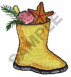 FISHERMAN CHRISTMAS STOCKING embroidery design