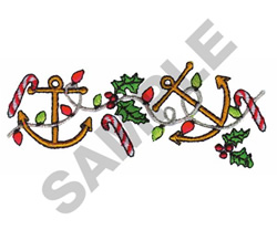 ANCHORS & CANDY CANE BORDER embroidery design