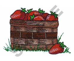 BASKET OF STRAWBERRIES embroidery design
