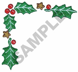HOLLY BORDER embroidery design