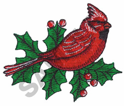 HOLIDAY CARDINAL embroidery design