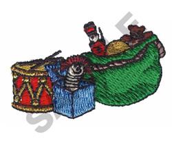 SANTA PRESENTS embroidery design