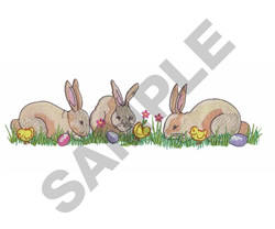 BUNNIES & CHICKS embroidery design