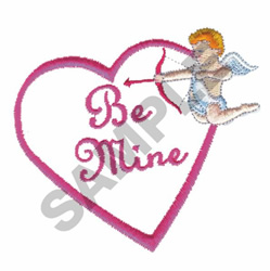 BE MINE WITH CUPID embroidery design