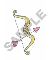 CUPIDS BOW AND ARROW embroidery design