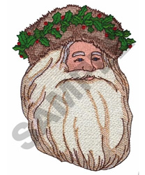 FATHER CHRISTMAS - HEAD embroidery design