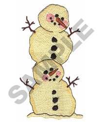 SNOWMEN embroidery design