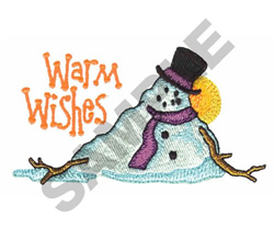 WARM WISHES SNOWMAN embroidery design