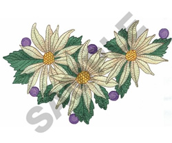 CHRISTMAS FLOWERS embroidery design