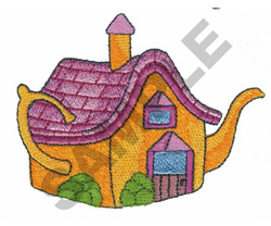 COTTAGE TEAPOT embroidery design