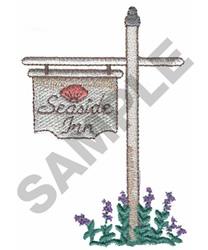 SEASIDE INN embroidery design