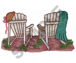 ADIRONDACK CHAIRS embroidery design