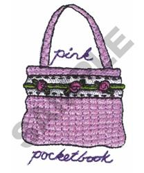 PINK POCKETBOOK embroidery design