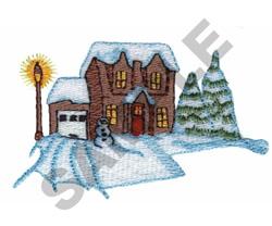 WINTER HOME embroidery design