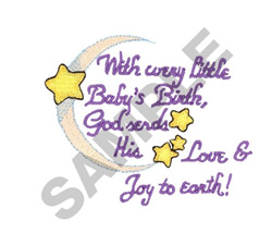 WITH EVERY LITTLE BABIES BIRTH... embroidery design